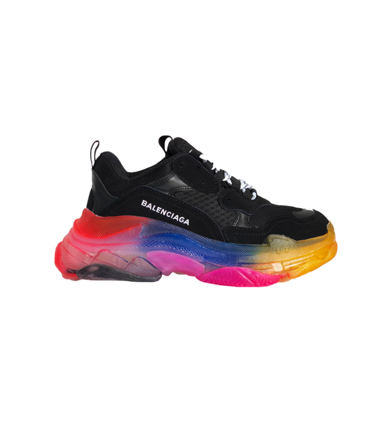 BALENCIAGA TRIPLE S AIR SOLE BLACK / MULTICOLOR