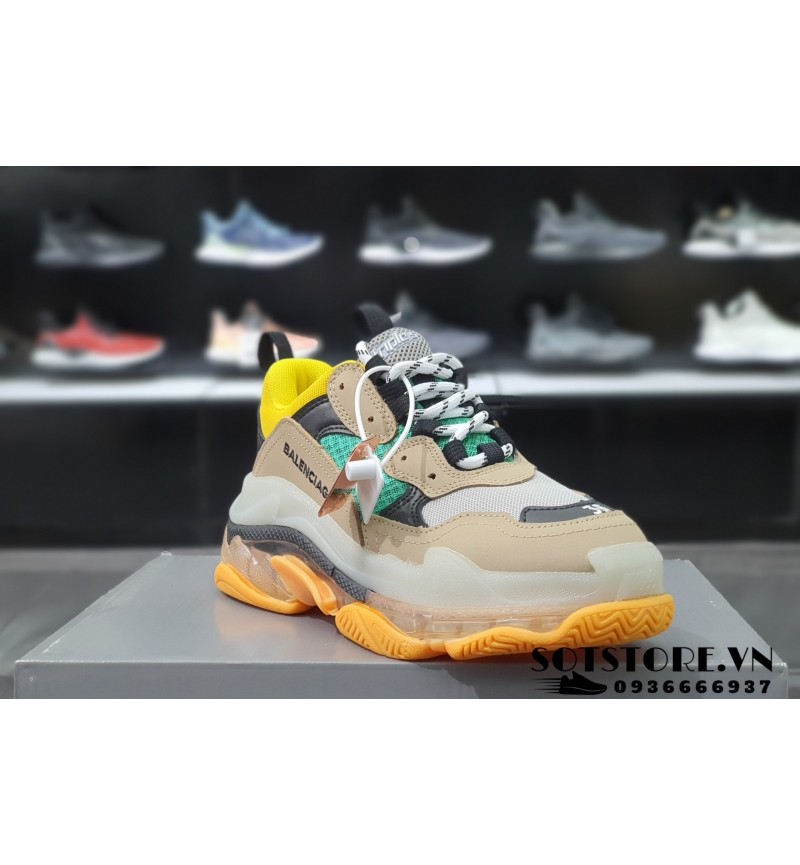 BALENCIAGA TRIPLE S AIR SOLE GREEN YELLOW