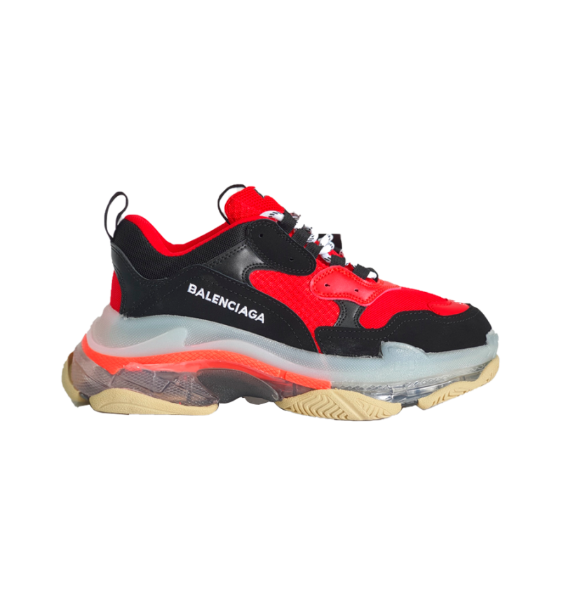 BALENCIAGA TRIPLE S AIR SOLE RED