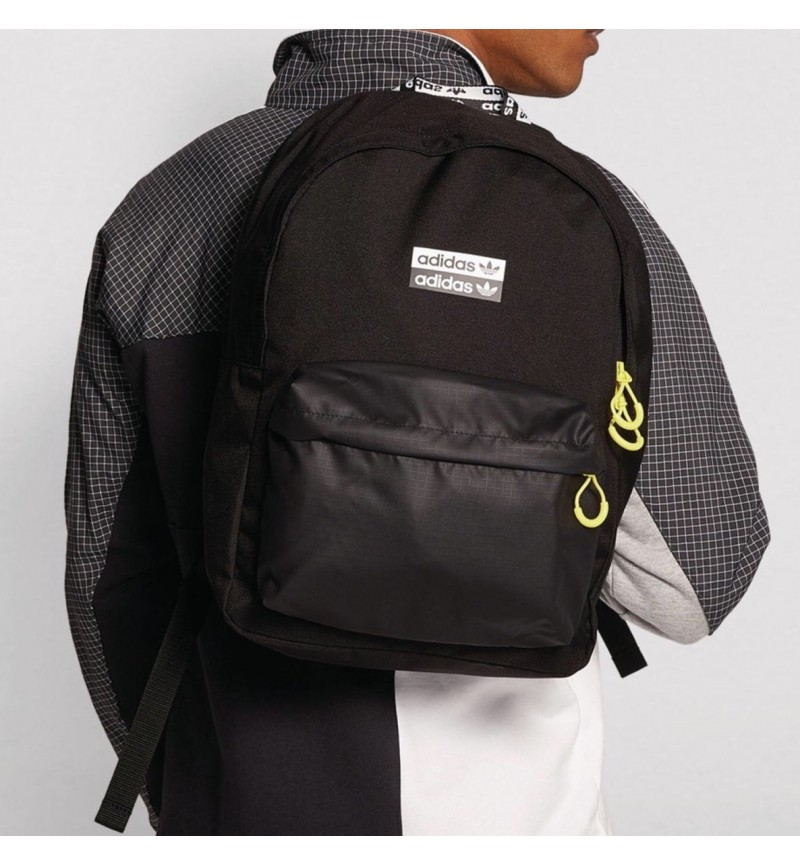 ADIDAS YEELOW ZIPPER BACKPACK