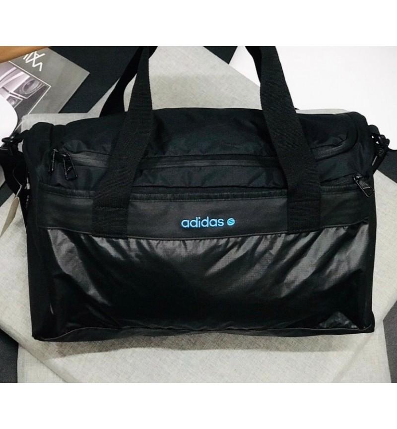 ADIDAS BAG BLACK/ BLUE LOGO
